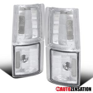 For GMC 94-98 C/K C10 Sierra Pickup Clear Lens Corner Turn Signal Lights Lamps