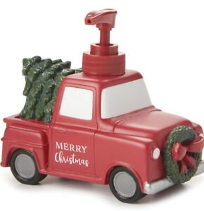 🚗🎄Farmhouse Red Pickup Truck Soap Lotion Pump 🌟Value Priced🌟