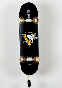 Pittsburgh Penguins Logo Aluminati Skateboard Light Whiskertin