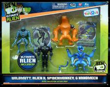 Ben 10 Ultimate Alien 4x Figures Box Set Wildmutt, X, Spidermonkey Nanomech pack