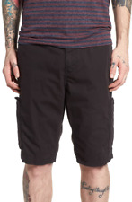 True Religion Mens Black Officer Field Shorts Sz 38 13145
