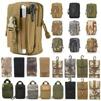 Outdoor Tactical Molle Pouch Utility Medical First Aid Edc Phone Belt Waist Bag