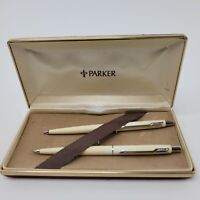 Vintage Parker Blue Pen & Mechanical Pencil Set With Original Box
