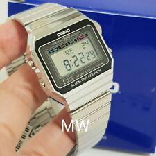 Casio Vintage Retro Silver Digital Youth A700W-1A Alarm Quartz Men's Watch New