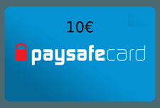 10 € Paysafe faster. Shipping via email!!! verification!!!