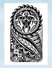 "US Seller- tribal black totem large 8.25"" half-sleeve arm tattoo cheap wholesale"