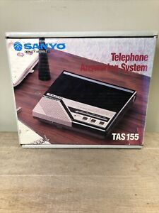 NOS Sanyo Answering Machine TAS 155 VOX New Old Stock