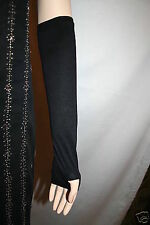 Arm Hand Black Veil Muslim Sleeves Hijab Abaya Hejab Gloves Soft W/ thumb Hole