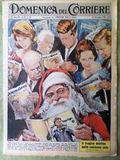 La Domenica del Corriere 17 Dicembre 1961 Indiani Germania Calcio Mercato Natale