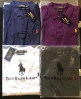 Ralph Lauren Polo Shirt Women's Top Black White Blue Purple Ladies New Sale !