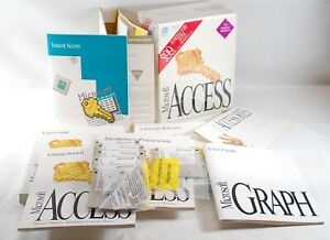 Vintage Microsoft Access v1.0 DBMS Software for Windows - Boxed with all disks