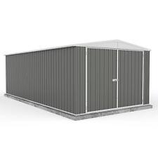 10x20 Absco Metal Garage Storage Shed Grey Easy Build Double Door Apex 10ft 20ft