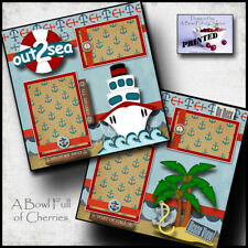 Out To Sea Cruise 2 premade scrapbook pages paper piecing printed Disney cherry