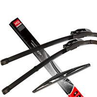 Front & Rear kit of genuine HQ Automotive Aero Flat Wiper Blades AD61-421 HQ14D