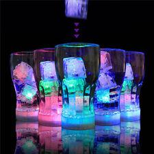 6/12pcs LED Ice Cubes Water Submersible Light Up Flash Wedding Party Decoration
