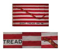 3x5 Embroidered Sewn First Navy Jack Gadsden 600D Nylon Flag 3'x5'