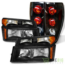 For 04-12 Colorado/Canyon Black Headlights Signal Lights Set + Tail Lights Combo