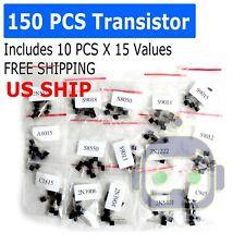 150pcs 15types Transistor To 92 Assortment Kit C1815 2n5551 S9018 S9013 C945