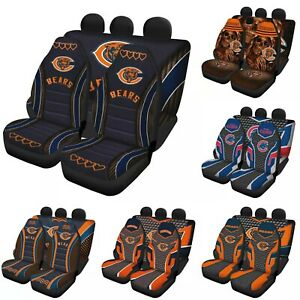Chicago Bears 5 Seats Car Seat Cover Universal Fit Auto Cushion Protector Gifts