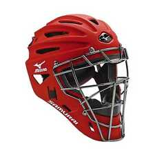 Mizuno Samurai G4 Adult Baseball & Softball Catcher's Helmet, Red. 380191-RD