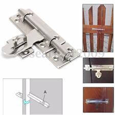 "4"" Stainless Steel Hardware Door Lock Barrel Bolt Latch Padlock Clasp Set"