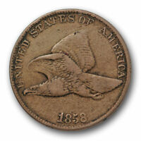 1858/7 Overdate Flying Eagle Cent Very Fine to  Extra Fine #3391
