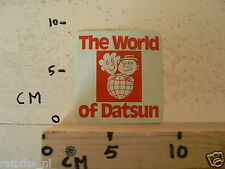 STICKER,DECAL DATSUN THE WORLD OF DATSUN B