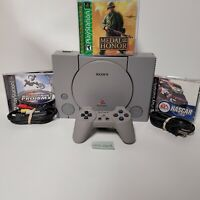 Sony Playstation 1 (PS1) Model SCPH-7501 Tested Works + 3 Games