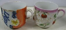 2 Antique Germany Shaving Mugs Brother