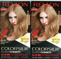 2 Revlon 90 81N Light Natural Blonde Vivid Hair Color Colorsilk Buttercream