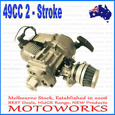 49cc 2 stroke Pull Start Engine Motor Mini Pocket PIT Quad Dirt Bike ATV kids