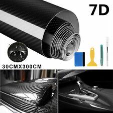 7D Auto Folie Autofolie Vinyl Aufkleber 300x30cm Wasserdichter Carbon Kohlefaser