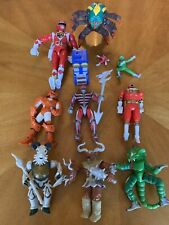 Vintage 1990s Power Rangers Action Figures Bandai Lot