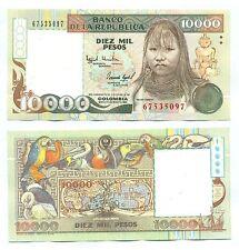 COLOMBIA NOTE 10000 PESOS 1993 P 437A UNC