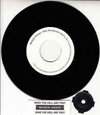 """MADISON AVENUE  Who The Hell Are You? 7"""" 45 record + juke box title strip RARE!"""