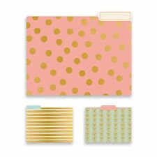 File Jackets File Pockets Eccolo World Traveler SET 15 File Folders (GEOMETRIC)