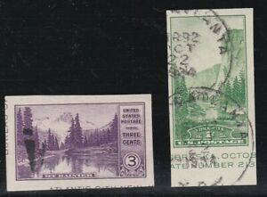 USA 1934 2 USED IMPERF FARLEY ISSUES