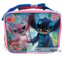 Disney Stitch & Angel Pink Insulated Lunch Bag