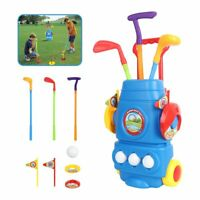Kids Golf Set  Mini Putter Club Ball Putting Cup Hole Practice Plastic Play Game