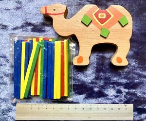 NEW Traditional Wooden Building Game,child,kids,family,stacking.Camel  Animal.