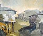Cityscape vintage oil painting