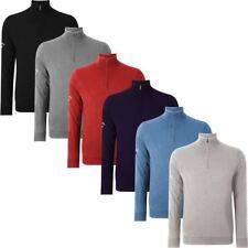 Callaway Golf Men's Lined Windproof Sweater Merino Mix 1/4 Zip Neck CGGF40A6
