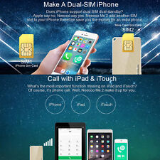 Portable Neecoo Bluetooth V4.0 Dual SIM Card Adapter For iPhone 6S Plus/iPad
