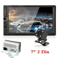 "7"" HD Car Dash Stereo Radio 2 DIN Bluetooth MP5 Player FM AUX+ Rear View Camera"