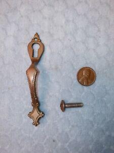 Keyhole Escutcheon Pull China Closet w/screw