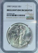 1987 American Silver Eagle Dollar $ / Certified Ngc Brilliant Uncirculated 🇺🇸