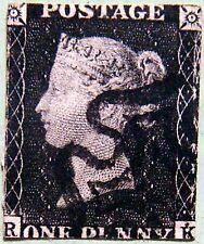 GREAT BRITAIN 1840 1d PENNY BLACK Queen Victoria USED Scott1 CV$350 ♣♣RARE♣♣