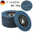 10/20 Stk Fächerscheiben Blau 115/125mm K40-120 Winkelschleifer Schleifscheiben