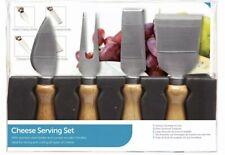 KitchenCraft 4 Piece Cheese serving Set stainless steel blade & wooden handle