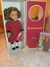 "AMERICAN GIRL DOLL NIB REBECCA 18"" W/ BOOK MEET OUTFIT HAIR NET RETIRED VERSION"
